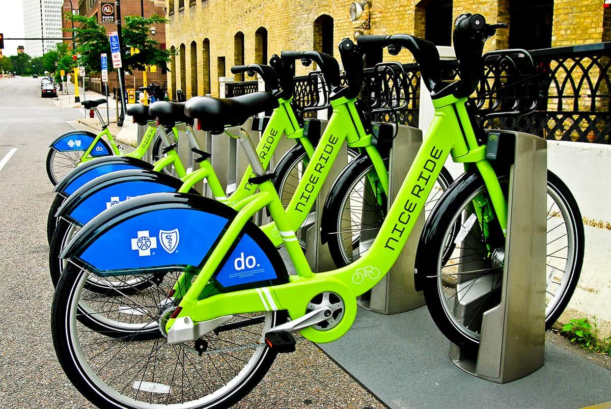 Nice Ride Bike Kiosk