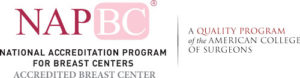 NAPBC breast cancer accreditation seal