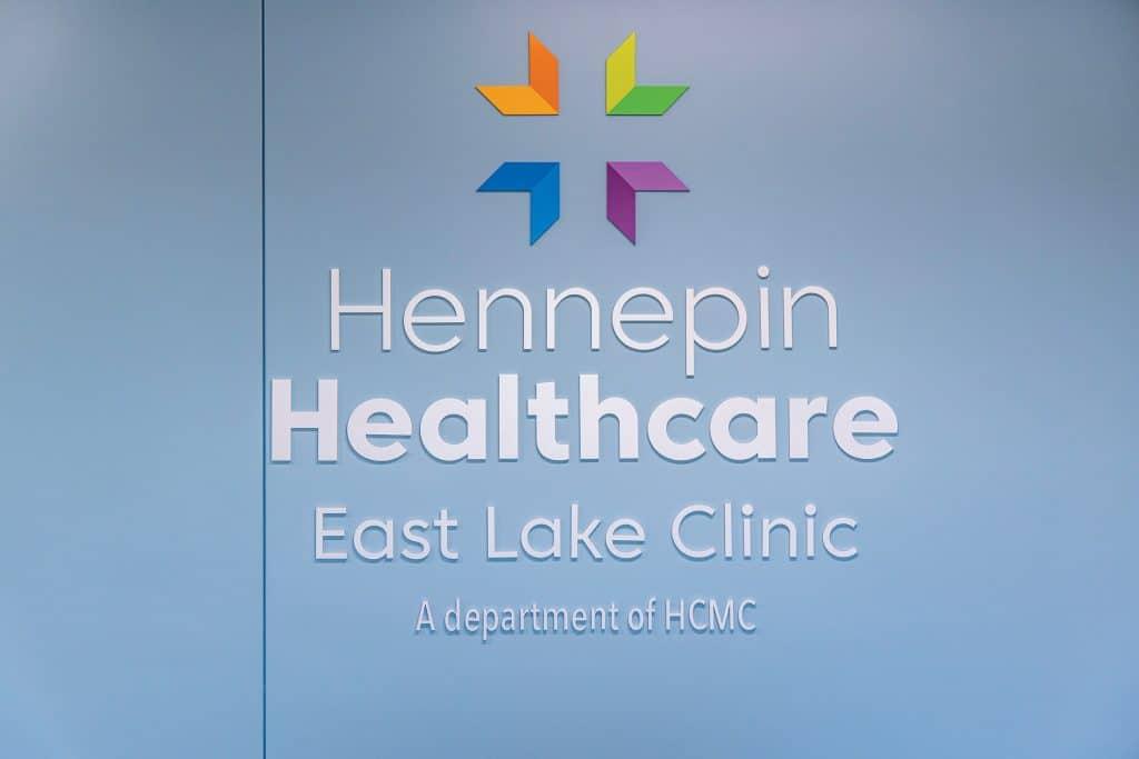 east lake clinic interior logo on wall