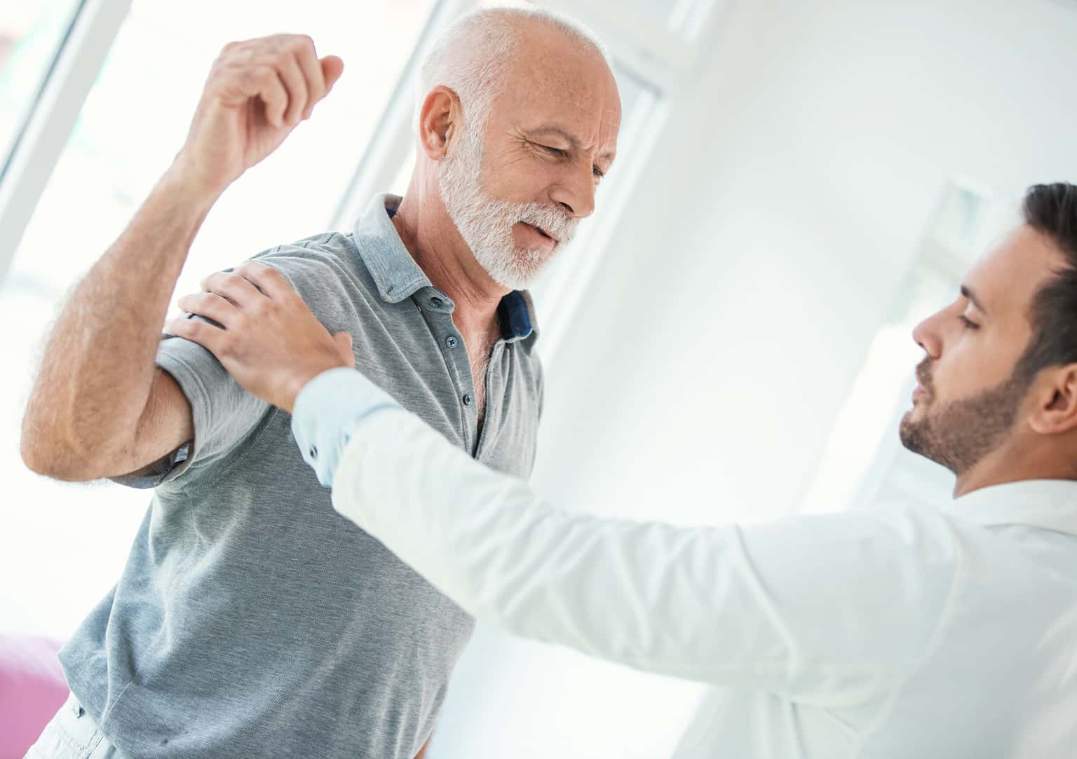 Older man with joint pain