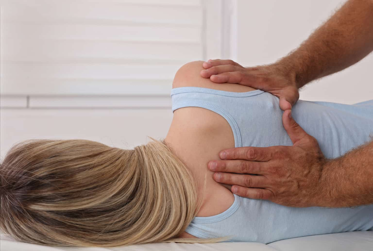 chiropractic patient receiving adjustment