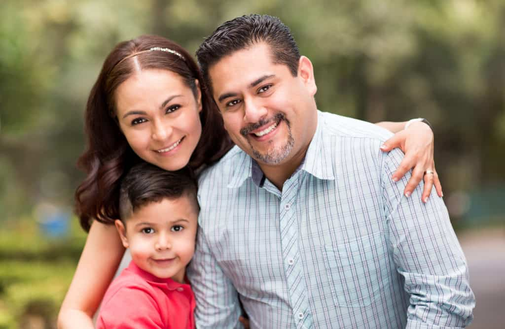 young hispanic family