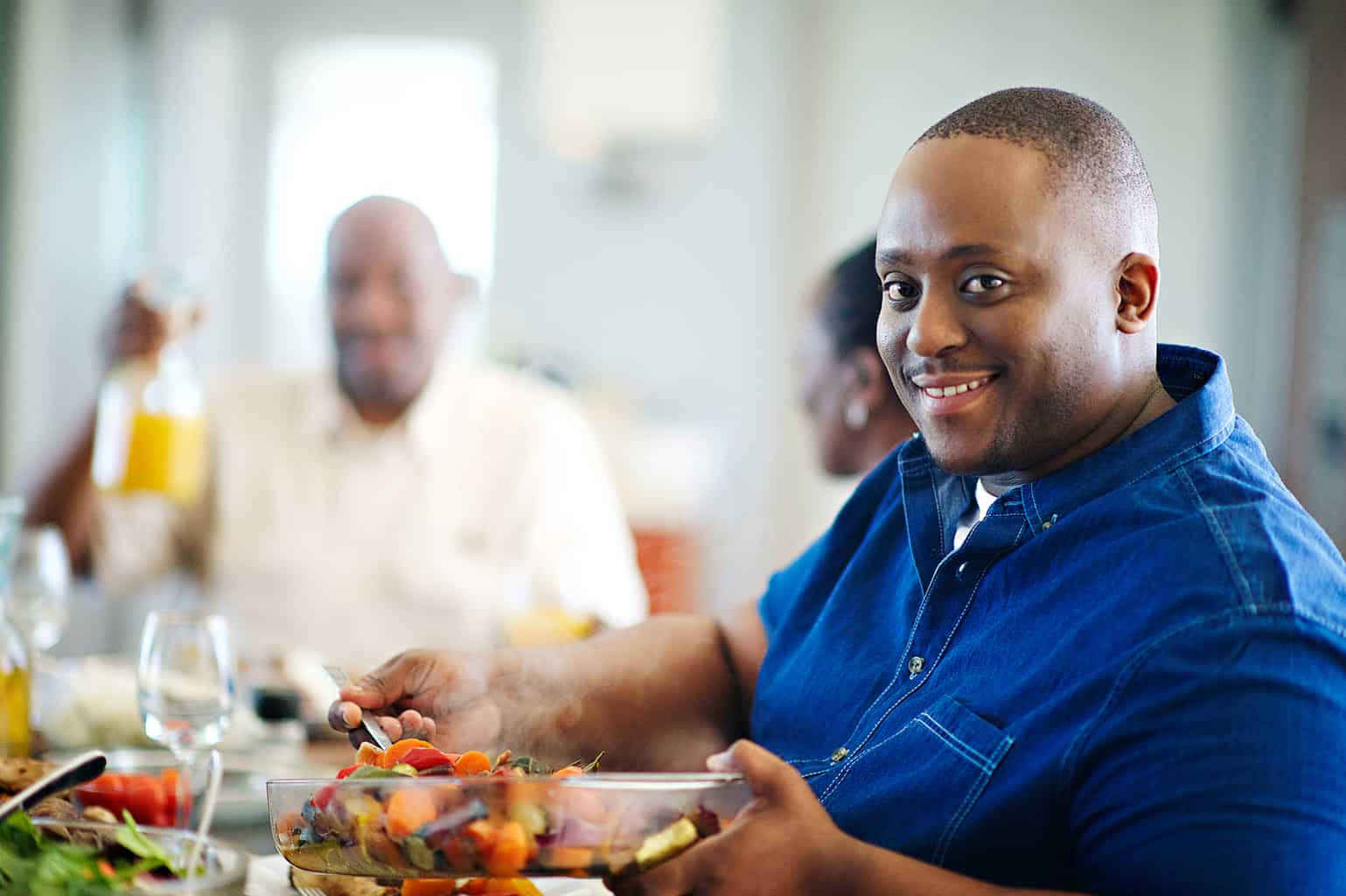 man in dining room bariatric surgery