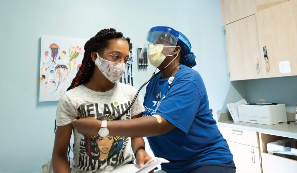 pediatrics teenager exam nurse
