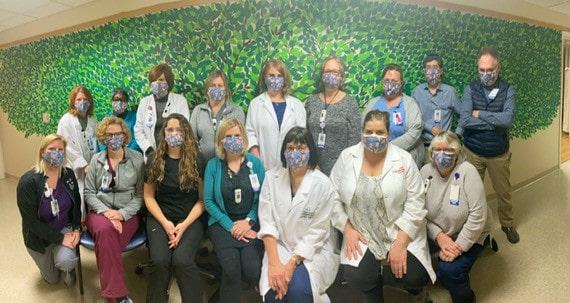 transplant team group shot