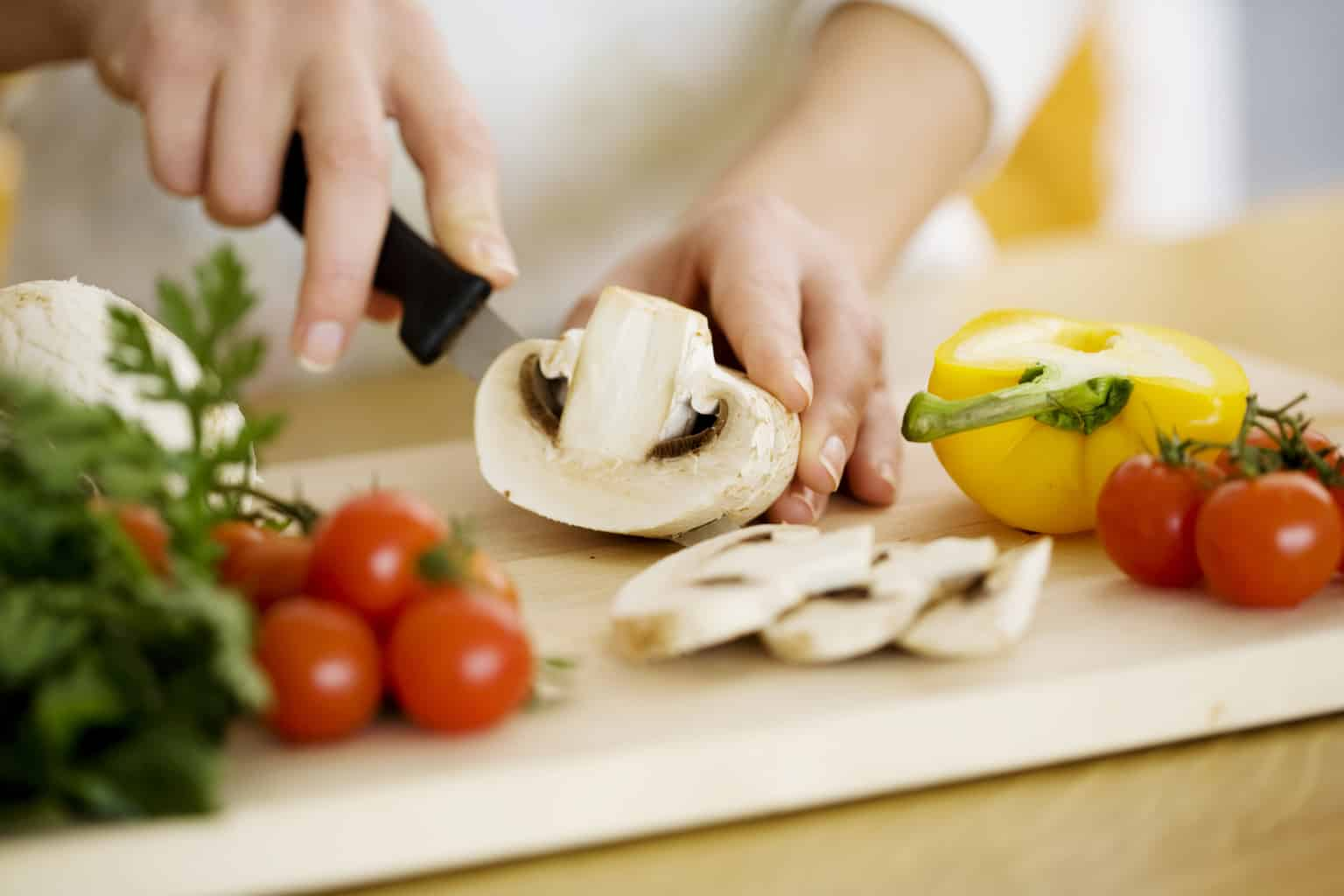 weight management vegetables on cutting board