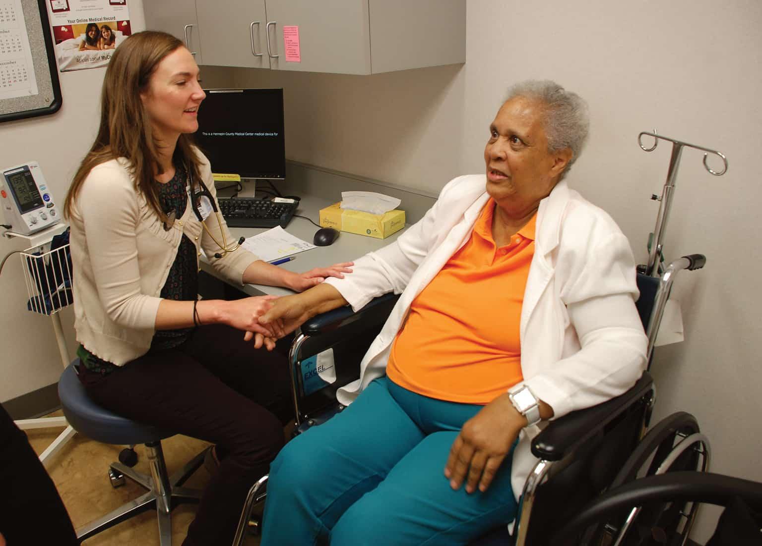 geriatric fellow with patient
