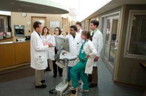 pharmacy preceptors in hospital hallway