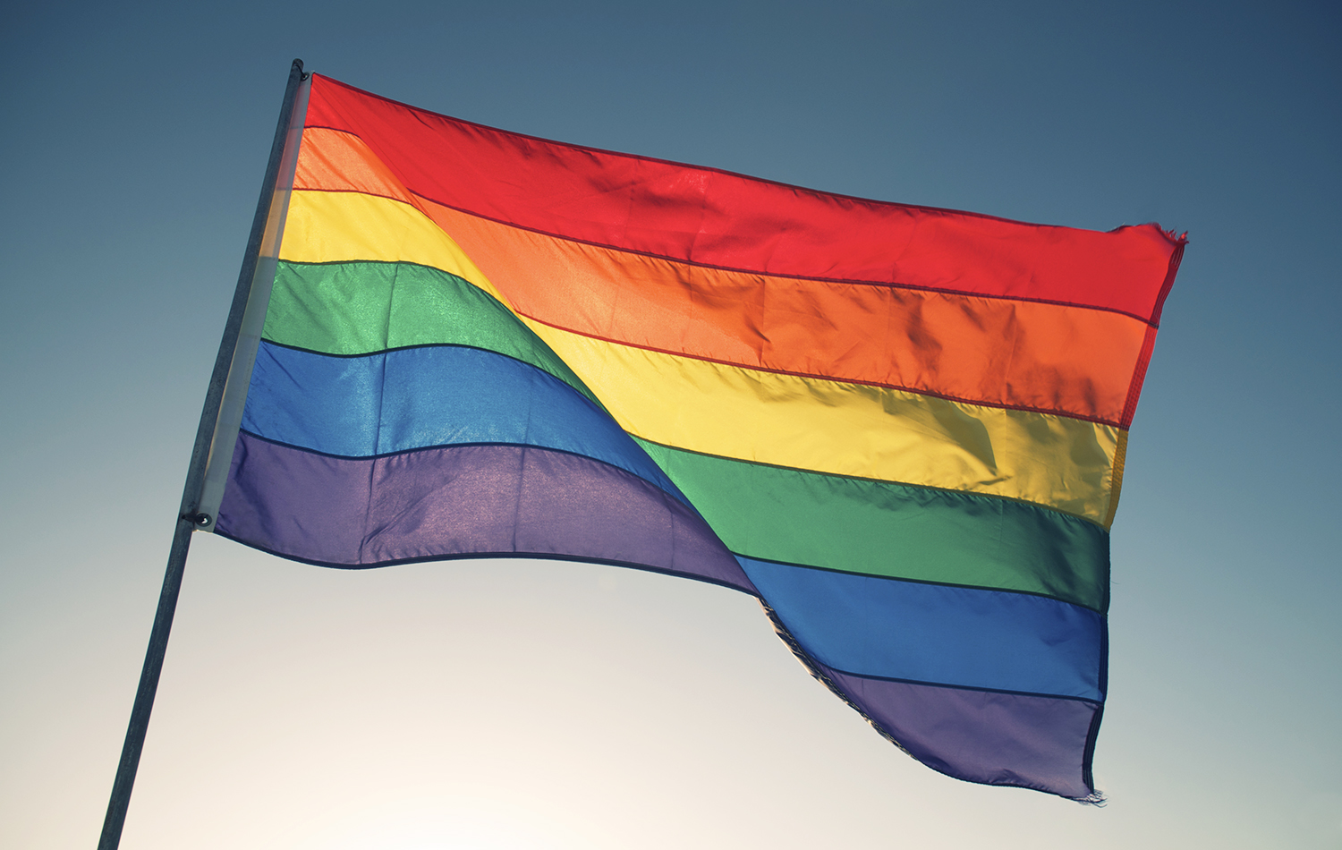 hero image only lgbtqi rainbow flag