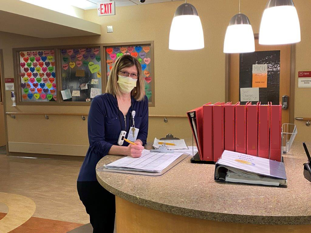 laura miller at nurses station