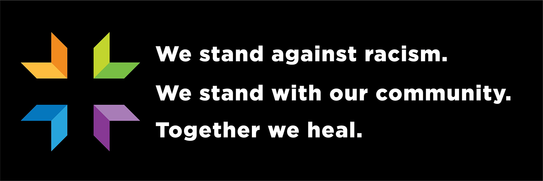 together we heal george floyd banner