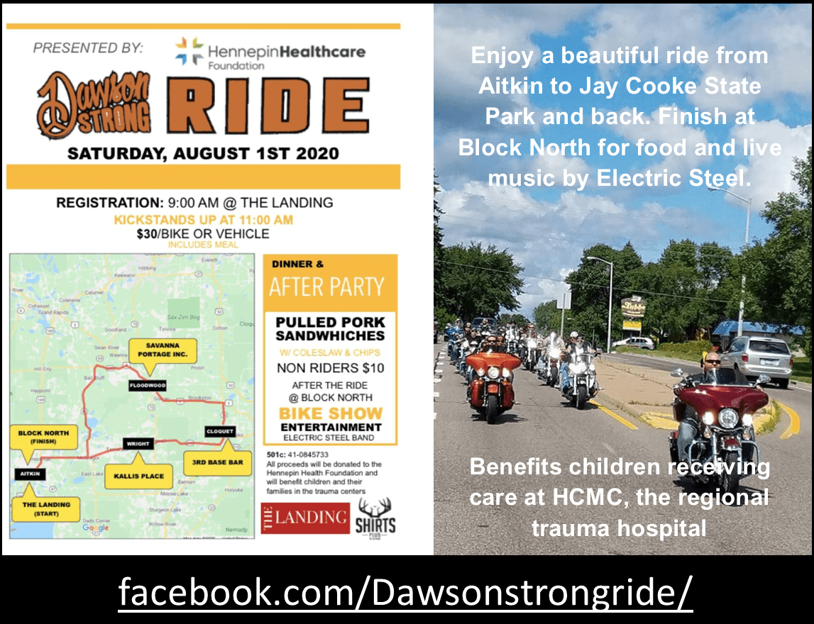 Dawson Strong Ride 2020 event promo