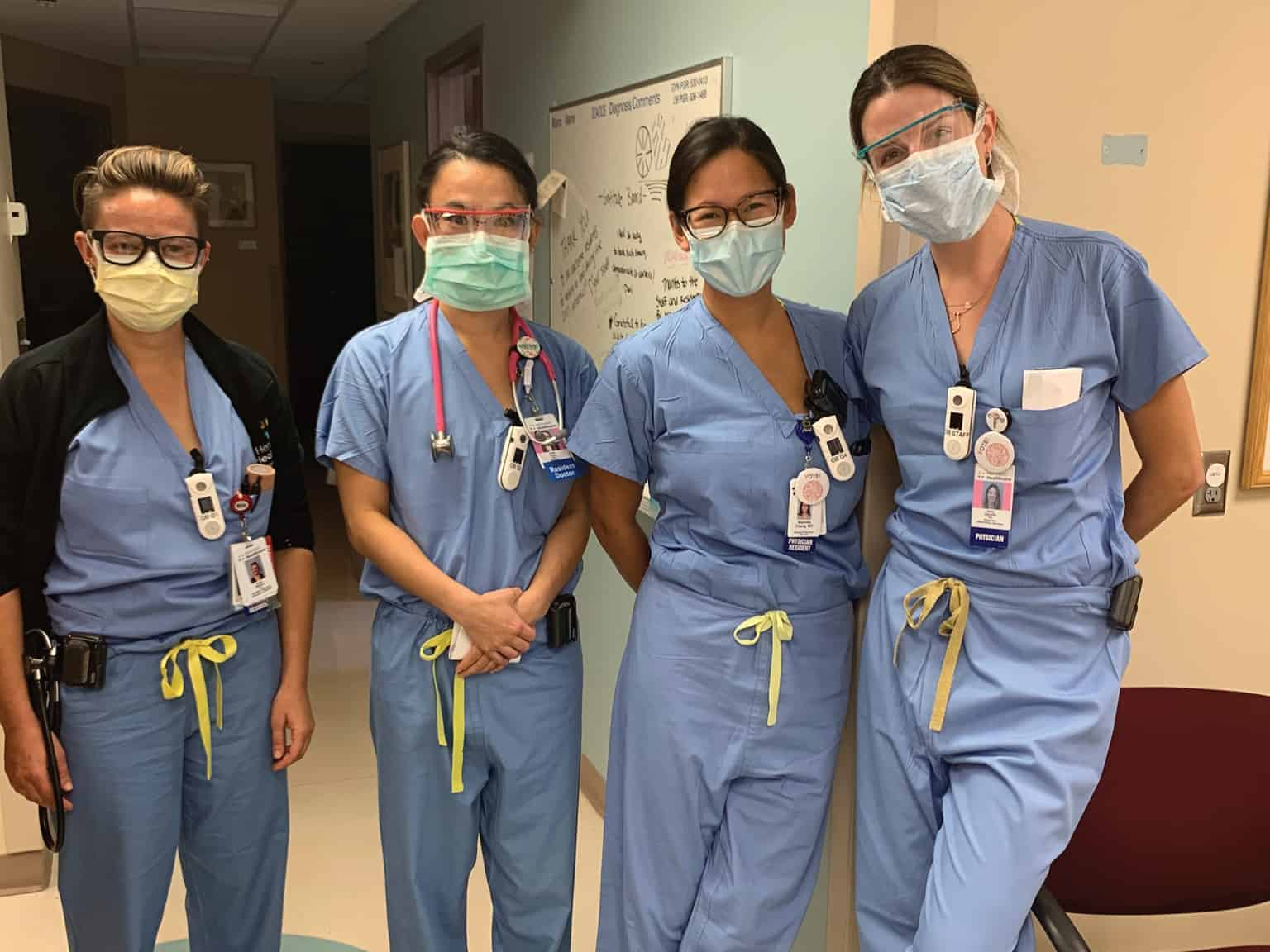birth center team providers in scrubs