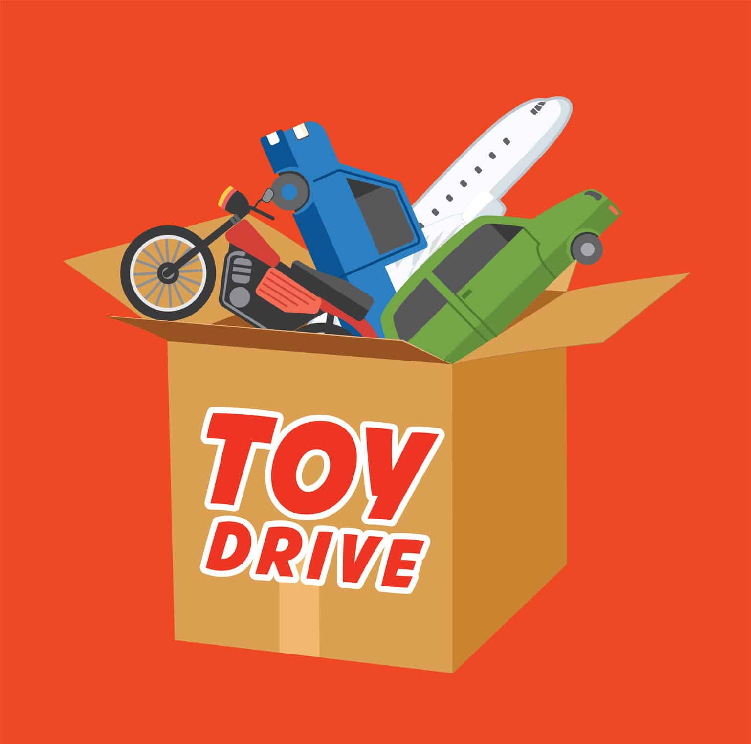 Holiday toy donation flyer template