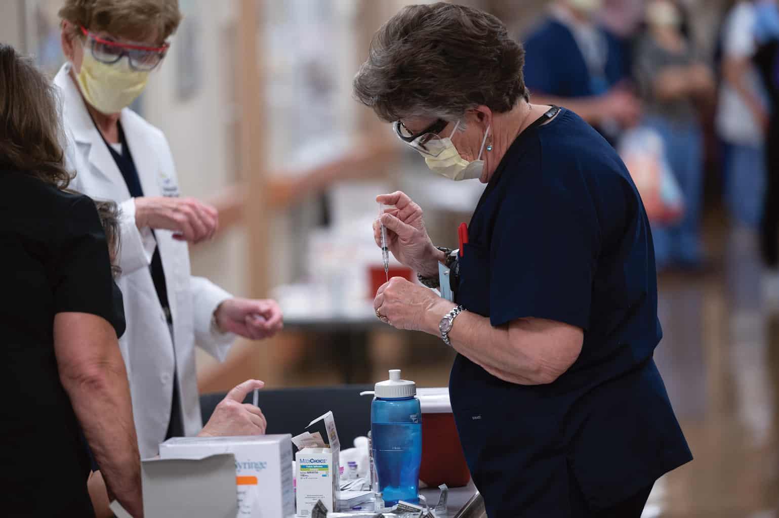 vaccine staff