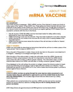 about the mrna vaccine