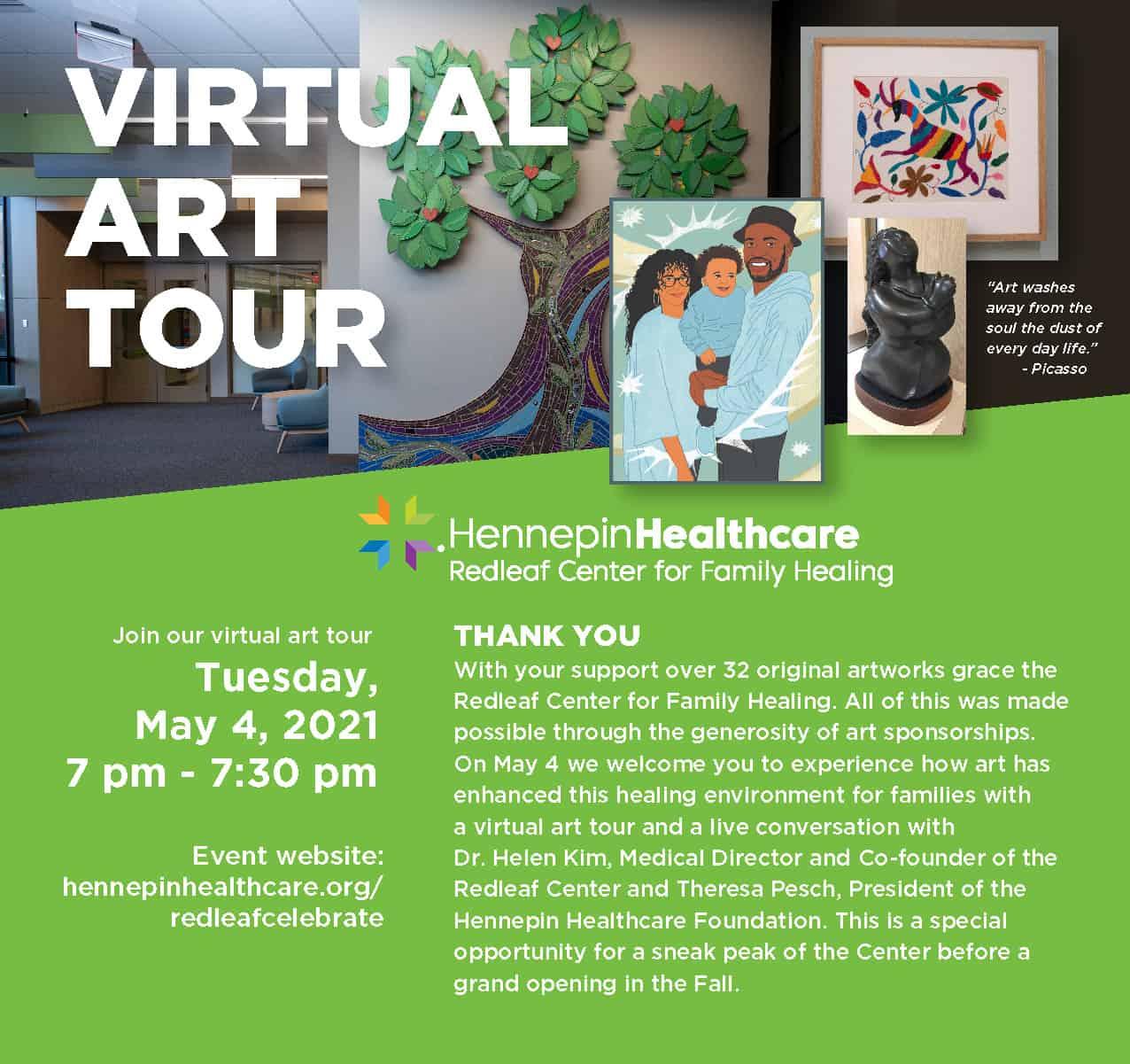 Redleaf virtual art tour 2021 EVITE