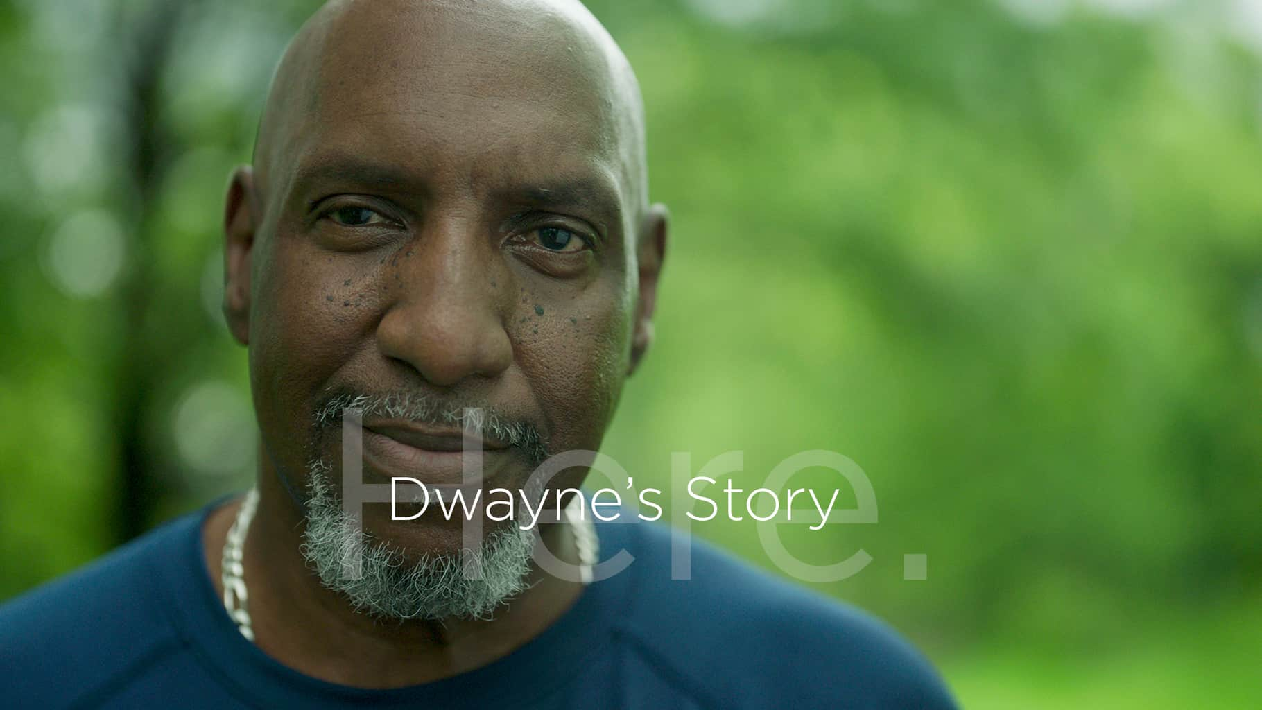 hero image only here video campaign dwayne's story